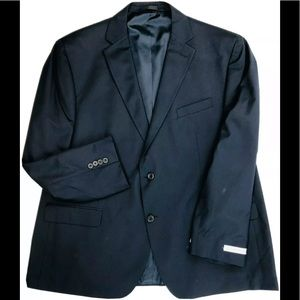 Geoffrey Beene 50R Suit Jacket Sport Coat Navy